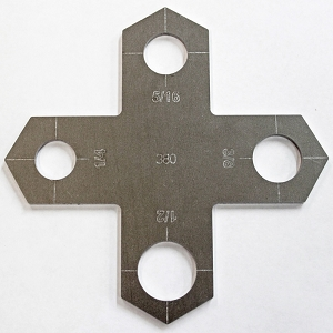 Holey Cross Stencil - Bolt Hole Cutter Guide