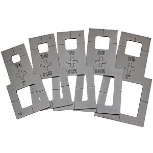 Plasma Stencil Circle Cutter Kit - 5 pc