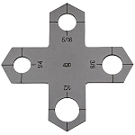 Holey Cross Stencil - Bolt Hole Plasma Cutter Guide