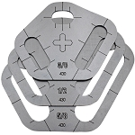 Tri Slot Stencils - Plasma Cutter Guide - 3pc.