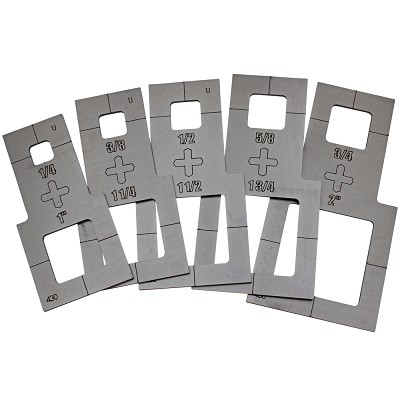 Square Stencils - Plasma Cutter Guide - 5pc.